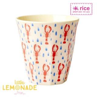 【RICE】プリントメラミンカップ/ロブスター ミディアムサイズ 9cm (MELCU-LOBS)