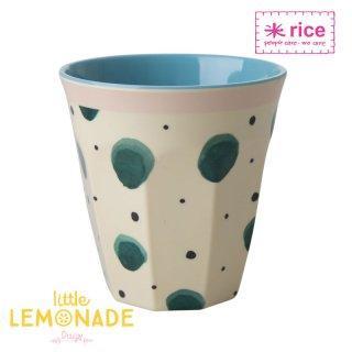 【RICE】プリントメラミンカップ/ウォータスプラッシュ ミディアムサイズ 9cm (MELCU-WASP)
