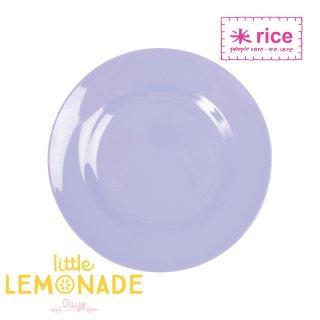 【RICE】メラミンサイドプレート/ライトパープル 直径20cm (MESPL-SL)