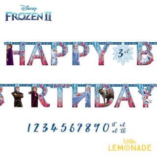 HAPPY BIRTHDAY バースデイバナー アナと雪の女王 アナ エルサ フローズン FROZEN 【amscan】 誕生日 飾り FROZEN2(122087)