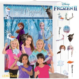 シーンセッター & フォトプロップス 12本セット  アナと雪の女王 アナ エルサ フローズン FROZEN 【amscan】 誕生日 飾り FROZEN2(672087)