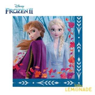 ペーパーナプキン 16枚入り アナと雪の女王 アナ エルサ フローズン FROZEN 【amscan】 誕生日  紙ナプキン FROZEN2(512087)