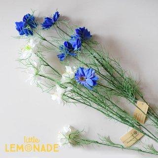【ニゲラ】 ブルー・ホワイト アーティフィシャルフラワー 造花 人工観葉植物 fgr bobcraft (15005B/W)