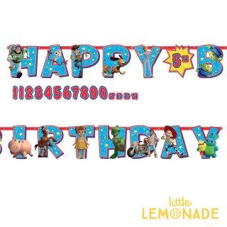 HAPPY BIRTHDAY バナー トイストーリー4  年齢が入れられる ジャイアントバナー【amscan】 誕生日 飾り (PG120492)