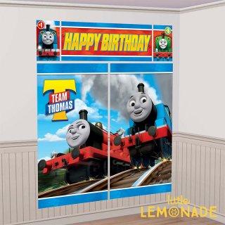 シーンセッター トーマス 【amscan】 誕生日 飾り 大きなバナー ウォールデコレーション (PG670619 )