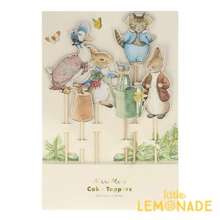 【Meri Meri】 ピーターラビット ケーキトッパー 6本セット Peter Rabbit & Friends Toppers イースター ケーキ飾り  メリメリ(203159)
