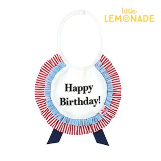 【niva】お誕生日 ロゼットスタイ happy birthday おしゃれスタイ よだれかけ ベビーエプロン 男の子 女の子 赤ちゃん 出産祝い お祝い ベビー(137)