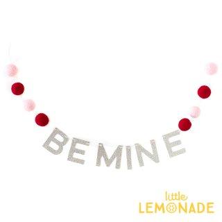 【my mind's eye】 BE MINE フェルトボールのガーランド  バレンタイン ピンク 赤 レターバナー  (VAL534)