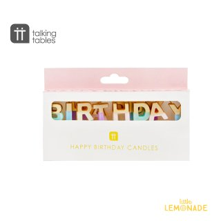 【Talking Tables】パステルカラー×グリッター HAPPY BIRTHDAYキャンドルセット Birthday Candles(BDAY-CANDLE-HB)