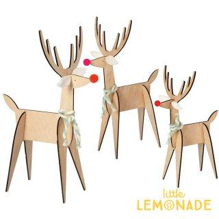 【Meri Meri】木製 トナカイのオブジェ Wood Reindeer Decorations クリスマス インテリア  (45-2439)