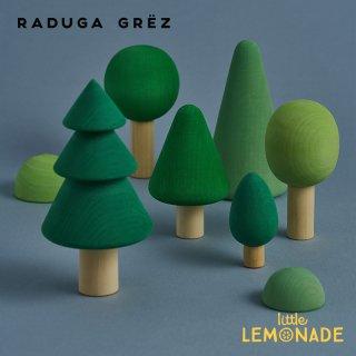 【Raduga Grez】 フォレスト セット 色付き ロシア製 積み木 木製 おもちゃ 森 林 自然 おままごと 【Forest  set color】 RG02001