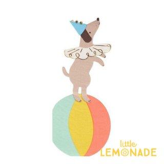 【MeriMeri】サーカスドック ペーパーナプキン Circus Dog 紙ナプキン 16枚入り パーティー ホームパーティー 犬 誕生日(203384)