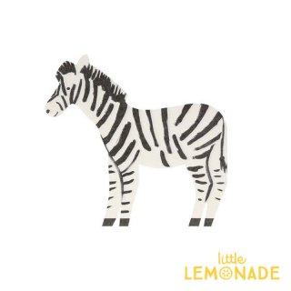 【MeriMeri】シマウマ ペーパーナプキン Safari Zebra 紙ナプキン 20枚入り ゼブラ パーティー ホームパーティー 誕生日(202190)