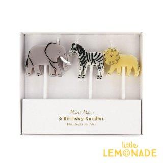 【Meri Meri メリメリ】サファリアニマル キャンドル Safari Animal Candles ろうそく ケーキ バースデー 動物 (204257)