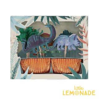 【Meri Meri】ダイナソーキングダムカップケーキキット 【恐竜のピックとベーキングカップのセット】 誕生日 お祝い テーブルコーディネート 製菓 マフィン(202225)