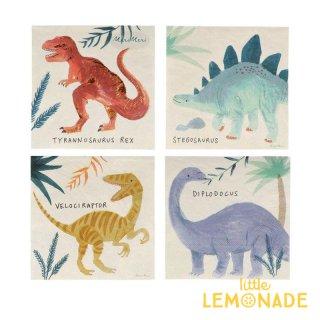 【MeriMeri】ダイナソー キングダム ペーパーナプキン Dinosaur Kingdom 紙ナプキン 16枚入り 恐竜 パーティー ホームパーティー 誕生日(202884)