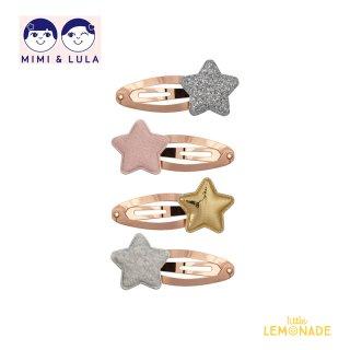 【Mimi&Lula ミミアンドルーラ】 TOKYO STAR CLIC CLACS /スターパッチンどめ4個セット ヘアアクセサリー 女の子(ML20200508)