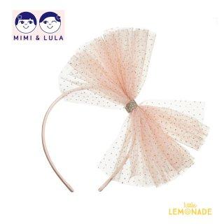 【Mimi&Lula ミミアンドルーラ】 TUTU BOW ALICE / ピンクチュチュカチューシャ ヘアアクセサリー 女の子(ML10200004)