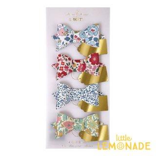 【Meri Meri】リバティ柄 ギフトリボン 4個セット 【Liberty Print Gift Bows】花柄 プレゼント ギフト(45-2230)