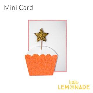 【MeriMeri メリメリ】ミニカード スターカップケーキ STAR Cupcake 星 【カード 手紙 誕生日 メッセージ】リトルレモネード(11-2346)