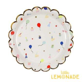 【Meri Meri メリメリ】パーティーアイテム スモールペーパープレート 8枚入り Party Icons Small Plates 紙皿 ペーパープレート  リトルレモネード(168616)