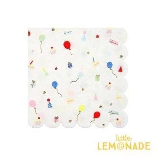 【Meri Meri メリメリ】パーティーアイテム スモールペーパーナプキン 16枚入り Party Icons Small Napkins   リトルレモネード(171973)