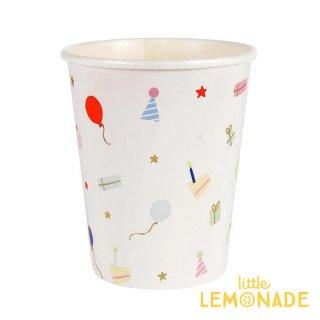 【Meri Meri メリメリ】パーティーアイテム ペーパーカップ 8個入り Party Icons Party Cups  紙コップ リトルレモネード(171982)