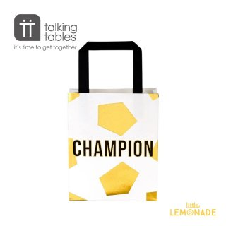 【Talking Tables】サッカーデザイン ペーパーバッグ 6枚セット Party Champions Party Bag(CHAMP-PARTYBAG) トーキングテーブルス