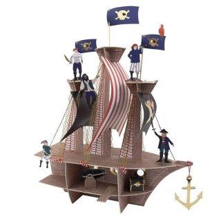 【Meri Meri】 海賊船 センターピース Pirates Bounty Centerpiece パイレーツ 船 ペーパークラフト (188260)
