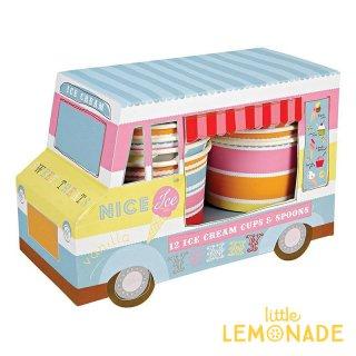 【Meri Meri メリメリ】アイスクリームバンカップ&スプーンセット Ice Cream Van Cups カップ アイスクリーム サマー 夏 リトルレモネード(104986)