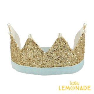 【Meri Meri メリメリ】ゴールドパールパーティークラウン Gold & Pearl Party Crown 王冠 クラウン パーティハット バースデー リトルレモネード(204859)