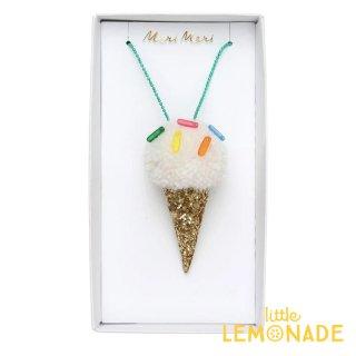 【Meri Meri メリメリ】アイスクリーム ポンポン ネックレス Ice Cream Pompom Necklace ギフト プレゼント キッズ用アクセサリー リトルレモネード (187207)