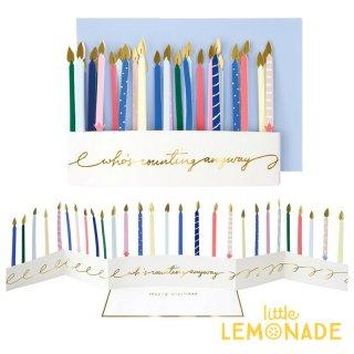 【MeriMeri メリメリ】カラフル キャンドルカード Candle Concertina Card カラフル 飾れる 【カード 手紙 誕生日 メッセージ】リトルレモネード(205093)