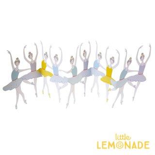 【MeriMeri メリメリ】バレリーナ カード Ballet Dancers Concertina Card 飾れる バレエ 発表会 【カード 手紙 誕生日】リトルレモネード(147214)