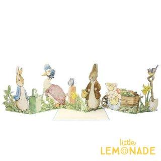 【MeriMeri メリメリ】ピーターラビット カード Peter Rabbit Concertina Card 飾れる うさぎ  【カード 手紙 誕生日】リトルレモネード(208108)
