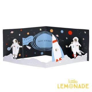 【MeriMeri メリメリ】3D 宇宙のメッセージカード Space 3D Scene Card 飾れる 【カード 手紙 誕生日 メッセージ】リトルレモネード(174664)