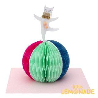 【MeriMeri メリメリ】サーカスキャットのメッセージカード Circus Cat Stand-Up Card  猫 【カード 手紙 誕生日】リトルレモネード(193110)