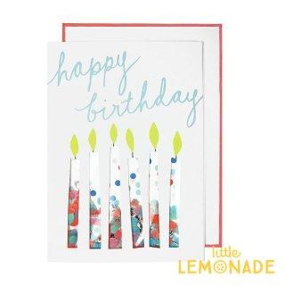 【MeriMeri メリメリ】コンフェッティキャンドルのメッセージカードConfetti Candles Card 【カード 手紙 誕生日】リトルレモネード(146170)