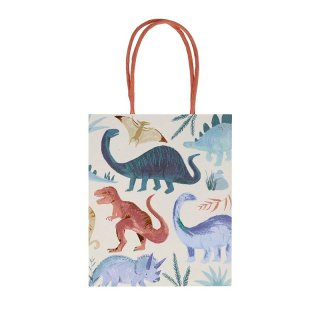 【Meri Meri】 恐竜 ペーパーバッグ 紙袋 1枚入り Dinosaur Kingdom Party Bags 【ペーパーバッグ トリートバッグ 紙袋 ラッピング】(202253)