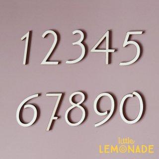 【NUMBER 1〜0】 ナンバーパーツ 11個入り  Wood Banner ウッドバナー 木製バナー 数字 マンスリーフォト Little Lemonade オリジナル LLS