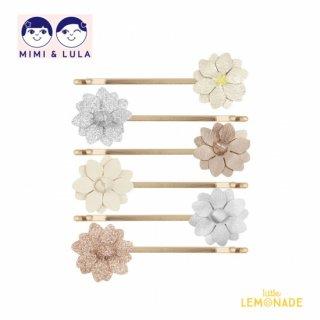 【Mimi&Lula ミミアンドルーラ】MEADOW FLOWER KIRBYS /お花ヘアピン6個セット ヘアアクセサリー 女の子 20AW(602054 08)