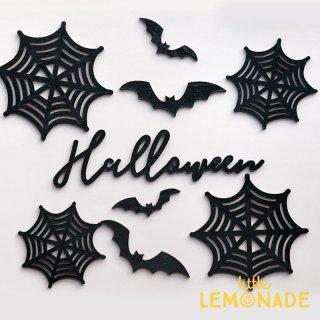 【Halloween】 Wood Banner ウッドバナー 9点セット 木製バナー ハロウィン バナー Little Lemonade オリジナル LLS