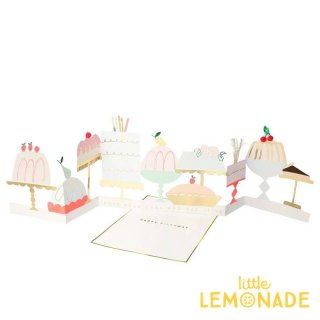 【Meri Meri】 ケーキのバースデーカード 手紙 グリーティング Cake Concertina Card(204877)