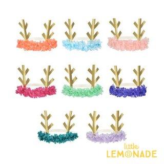 【Meri Meri】トナカイ フリンジヘアバンド 8色 8個セット 仮装 キッズ 【パーティー ハット クリスマス】(209800)