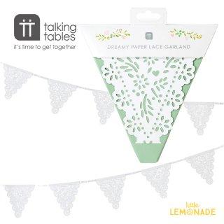 ボタニカル ブライド フラッグガーランド【Talking Tables】 Botanical Bride Garland(WHT-BUNTING) トーキングテーブルス