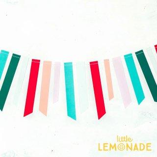 【my mind's eye】 カラフルテープのガーランド Fa La La Ticker Tape Banner バナー クリスマス 飾りつけ(OPC802)