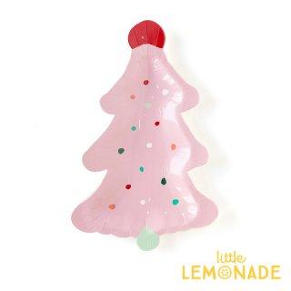 【my mind's eye】 ピンク クリスマスツリー ペーパープレート 8枚 Frosting Tree Plate ケーキプレート 紙皿   (OPC841)