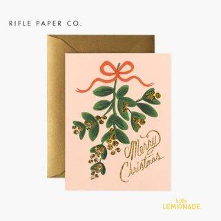 【RIFLE PAPER ライフルペーパー】 クリスマス カード /ミスルトゥ・クリスマス Mistletoe Christmas (GCX057)
