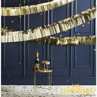 【Ginger Ray】 ゴールド フリンジガーランド Fringe Foil - Gold バックドロップ  クリスマス (POP-406)