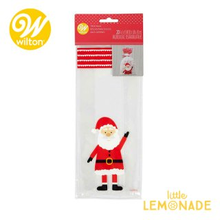 【Wilton】サンタクローストリートバッグ 20枚入り クリスマス Santa Claus Treat Bags(1912-0-0079)